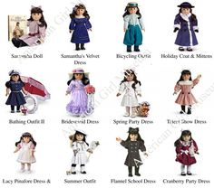 Original American Girl Dolls, American Girl Doll Samantha, American Girl Crafts, American Doll Clothes, Girl Doll Clothes, American Girls, Barbie Clothes, Girls Dollhouse, Doll Dress Patterns