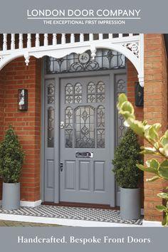 Edwardian House, Victorian Homes, Front Door Plants, Fresco, Modern Entrance Door, Victorian Front Doors, Front Porch Design, House Front Door, Dream House Exterior