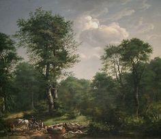 Johan Christian Dahl -  Skogsparti nær Engelholm, 1814.