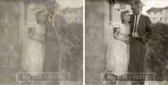 Damaged photo restored back to its former glory. Fix your torn, scratched, ripped, faded or discoloured photograph today with Restore-Photo.co.uk Photo Restoration, Restore, Photograph, Painting, Art, Photography, Art Background, Painting Art, Photographs