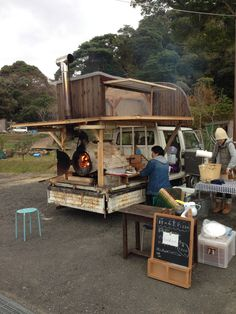 mobile stone oven for pizza.