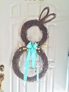 Make a Bunny Wreath for Spring!