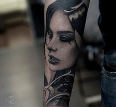 Tattoo Sasha Sorsa - tattoo's photo In the style Whip Shading, Male, Gir Face Tattoos For Women, Tattoos For Guys, Cool Tattoos, Amazing Tattoos, Female Portrait, Black And Grey Tattoos, Face Art, Woman Face, Tattoo Photos