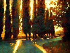 Winding Road to the Villa by Teresa Saia Pastel ~ 18 x 24