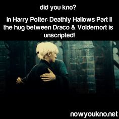 So the awkwardness exuding from Draco is completely real?