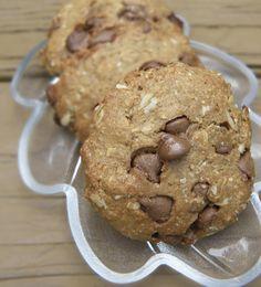 Easy PB, Chocolate Oat Cookies.