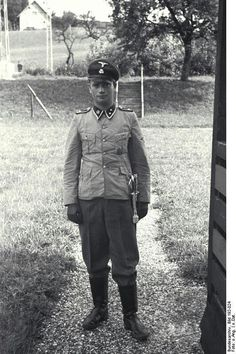 SS guard at Dachau Concentration Camp
