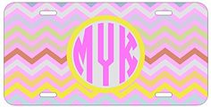 Personalized Monogrammed Chevron Yellow Purple License Plate Auto Tag Top Craft Case http://www.amazon.com/dp/B00N025BZO/ref=cm_sw_r_pi_dp_zCotub00D5SCS