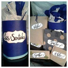 La caja de los 5 sentidos ...un regali por cada sentido! ☺ sorpende a los que más amas con esta idea    The five senses box! Surprise your relatives and people you love to! They're going to love this gift!