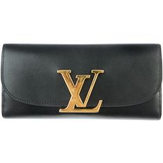 Louis Vuitton Pre-owned Louis Vuitton Vivienne LV Long Wallet (1,886,875 KRW) ❤ liked on Polyvore featuring bags, wallets, black, zipper wallet, louis vuitton, long zipper wallet, black zip wallet and black leather wallet