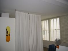 How to DIY your very own Ikea style custom curtain cable system. I ...