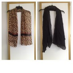 NEW with no tags, Animal Print  and Black SCARF. New with no tags. Animal print and black scarf. Accessories Scarves & Wraps