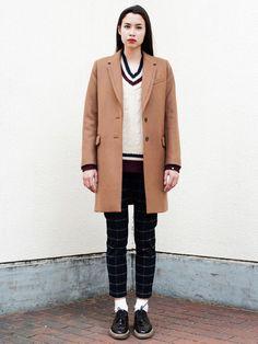 今欲しいコート。 Silas CHESTER COAT / wool coat on ShopStyle