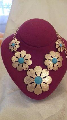 Nacklace with flowers. Beautiful gift to by ArtFiligreeKosHellas