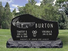 Monument Designed for Burton Family