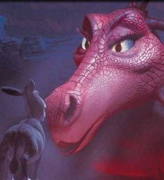 Shrek and Dragon - Shrek film (2001)