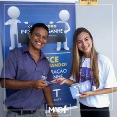 Ação de divulgação da NET com panfletos em sinais, casas e estabelecimentos!