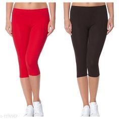 Capris Trendy Cotton Lycra Capris Leggings Fabric: Cotton Lycra Size: Up To 28 in to 36 in( Free Size) Length: Up To 34 in  Type: Stitched Description: It Has 2 Piece Of Women's Capris Pattern: Solid Country of Origin: India Sizes Available: Free Size, 24, 26, 28, 30, 32 *Proof of Safe Delivery! Click to know on Safety Standards of Delivery Partners- https://ltl.sh/y_nZrAV3  Catalog Rating: ★4 (2888)  Catalog Name: Alice Trendy Cotton Lycra Capris Combo Leggings CatalogID_136944 C79-SC1037 Code: 742-1110957-