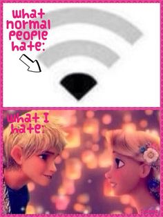 Well I hate both. Everyone hates slow WiFi and I do not ship those two at all. Who even came up with that?!