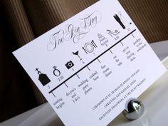 Custom DIY Printable Wedding Timeline in by GraceWarrenDesigns