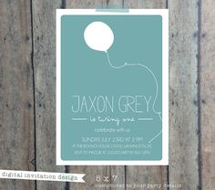 First Birthday invitation - Boy girl birthday invitation - first birthday bash party invite