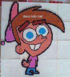 DECO.KDO.NAT: Perles hama: Timmy turner de mes parrains sont mag...