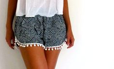 Hey, I found this really awesome Etsy listing at https://www.etsy.com/il-en/listing/178451768/pom-pom-shorts-navy-and-white-dot