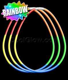 22 Inch Glow Necklaces Rainbow
