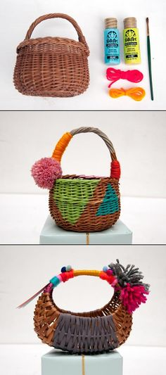 http://paintmeplaid.com/2012/11/28/wednesdays-with-handmade-charlotte-diy-tiny-hand-painted-gift-baskets/