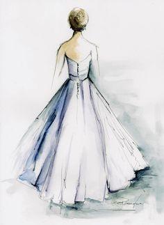Perfect Wedding  gift Custom Wedding Dress by DianeBronstein, $350.00