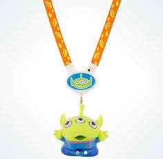 Disney Parks Toy Story Alien Little Green Man Light-Up Lanyard New with Box