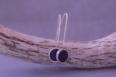 Silver Drop Earrings, Blue Earrings, Sterling Silver Earrings, Dangle Earrings, Silver Gifts, Leaf Design, Earrings Handmade, Gifts For Her, Dangles