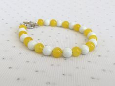 Yellow Bridesmaid Bracelet Jewelry, Yellow Summer Jewelry Yellow Wedding Jewelry  by CherishedJewelryCo