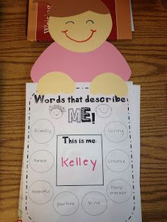 About me... craftivity - Buggy for Second Grade