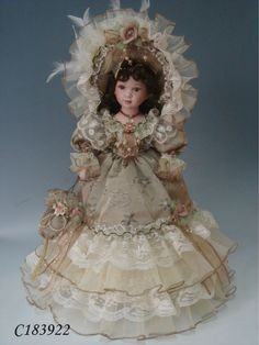 """High-quality 18"""" Ceramic Russian Porcelain Victoria Doll"""