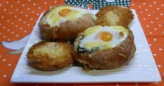 Panecillos rellenos de espinacas y huevo