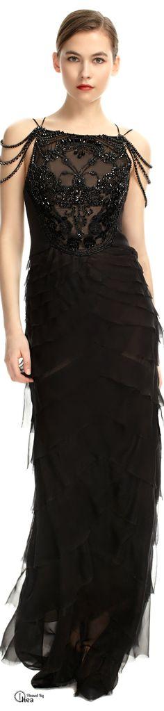 Alberta Ferretti  ● Embroidered Evening Gown
