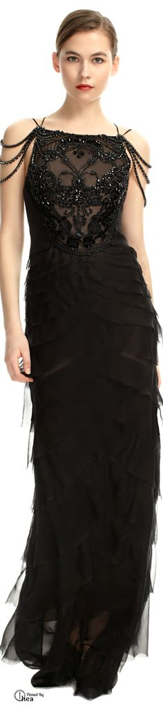 Alberta Ferretti  ● Embroidered Evening Gown