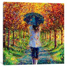 """Red Barrel Studio Colleen Painting Print on Wrapped Canvas Size: 37"""" H x 37"""" W x 1.5"""" D"""