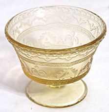 Depression Glass - Federal - Patrician / Spoke - Amber Sherbets - Lot of 3