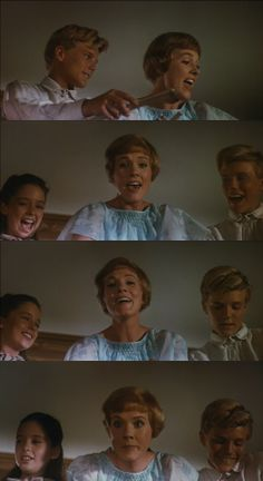 Julie Andrews as Maria in The Sound of Music 1965 behind the scenes of The Lonely Goatherd