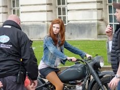 Karen + motorbike = love