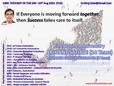 1086: THOUGHT OF THE DAY –23rd August 2016 (TUE)   #ArihantSatiate   #NirajShah (er.niraj.shah@gmail.com)