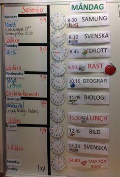 Vikten av en strukturerad tavla | Pedagog Värmland Teacher Education, School Teacher, A Classroom, Adhd, Homeschool, Piano, Teaching, Inspiration, Tips