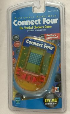Sealed Connect Four Electronic Hand-Held 1999 Hasbro Milton Bradley | Toys & Hobbies, Games, Electronic Games | eBay!