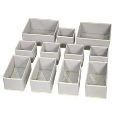 DIOMMELL Foldable Cloth Storage Box Closet Dresser Drawer Organizer Fabric Baskets Bins Containers Divider for Clothes Underwear Bras Socks Lingerie Clothing,Set of 11 Grey 245 Dresser Drawer Organization, Sock Organization, Nursery Organization, Drawer Dividers, Drawer Organisers, Dresser In Closet, Closet Drawers, Dresser Drawers, Dressers