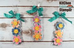 Flower Shop Peppermint Patties Treat Bag Tutorial and Project Sheet with Kitchen Table Stamper - http://www.kitchentablestamper.com