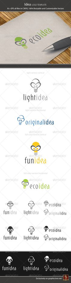 Idea Logo Template — Vector EPS #developer #colorfull • Available here → https://graphicriver.net/item/idea-logo-template/2688500?ref=pxcr