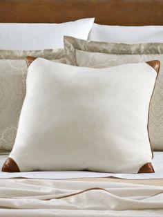 Leather Trim Cashmere Pillow - Ralph Lauren Home Throw Pillows - RalphLauren.com