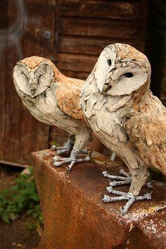 barn owls by Joe lawrence art work, via Flickr